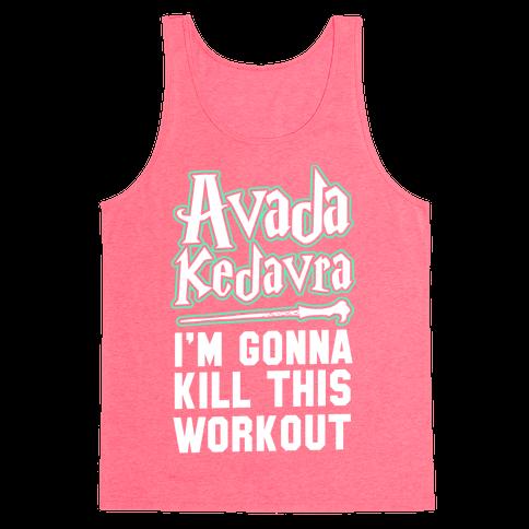 Avada Kedavra Fitness (Glow) Tank Top
