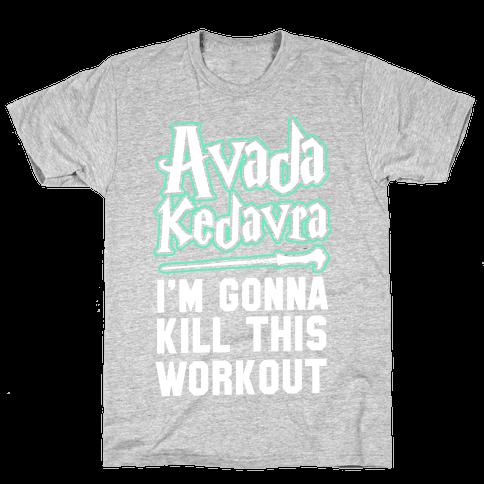 Avada Kedavra Fitness (Glow) Mens T-Shirt