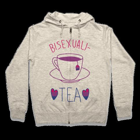 Bisexuali-TEA Zip Hoodie