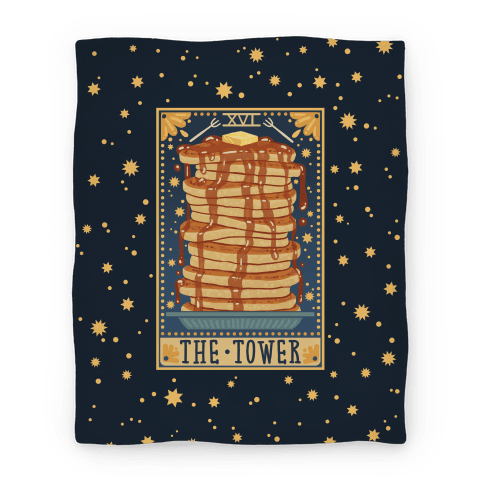 Tarot Card: The Tower (Of Pancakes) Blanket | LookHUMAN