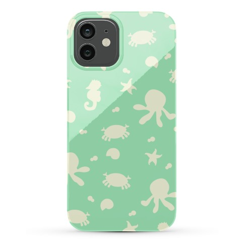 Sea Creature Pattern (Mint) Phone Case