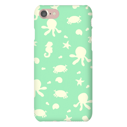 Sea Creature Pattern (Mint) Phone Case