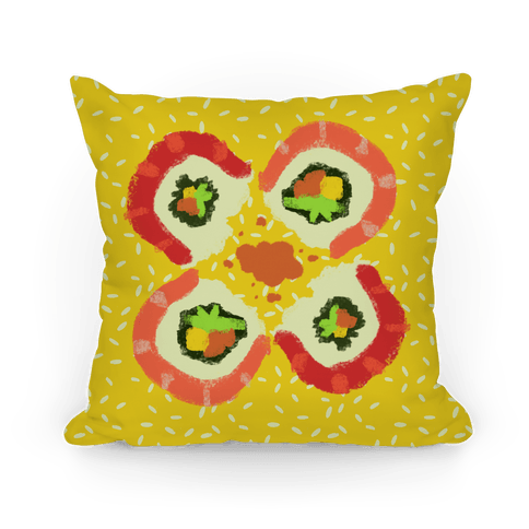 Japanese Floral Sushi Pillow