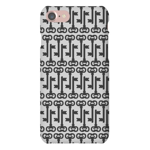 Skeleton Key Pattern Phone Case