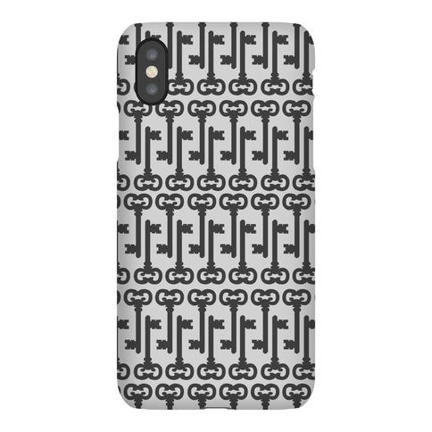 Skeleton Key Pattern Phone Case