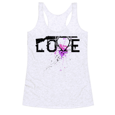 Love to Hunt Racerback Tank Top