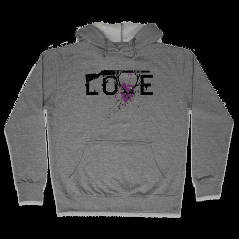 Love to Hunt Hooded Sweatshirt