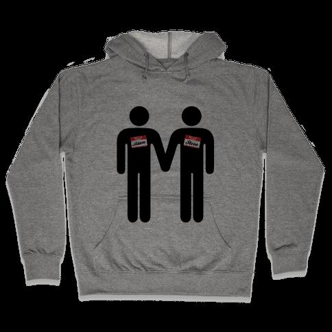Adam and Steve Hooded Sweatshirt