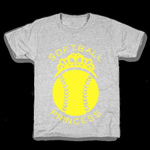 Softball Princess Kids T-Shirt