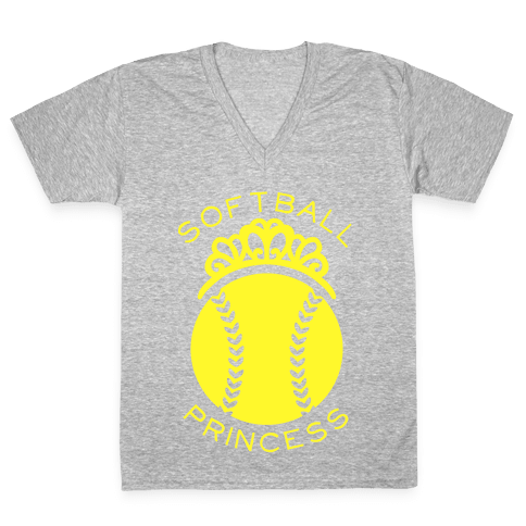 Softball Princess V-Neck Tee Shirt