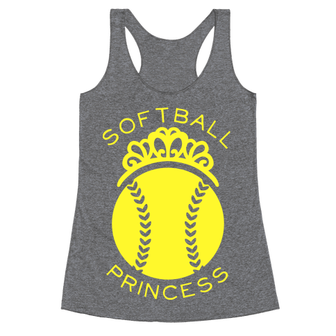 Softball Princess Racerback Tank Top