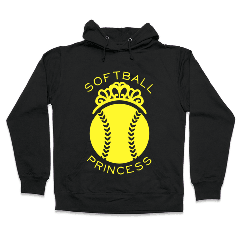 Softball Princess Hooded Sweatshirt