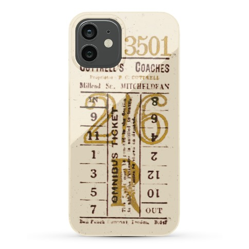Vintage Punch Ticket Phone Case