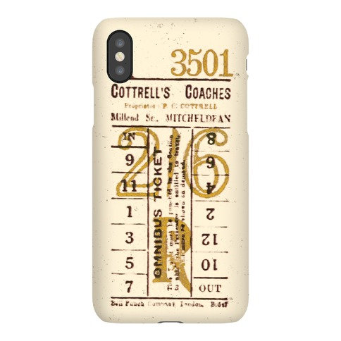 Vintage Punch Ticket Phone Case