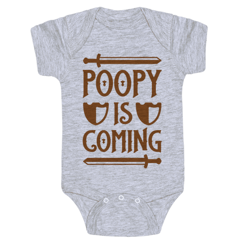Poopy Is Coming Baby Onesy