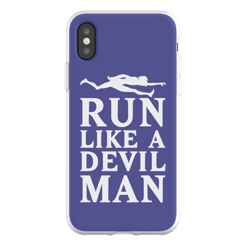 Run Like A Devilman Phone Flexi-Case
