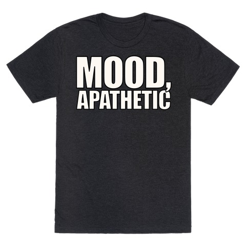 Mood Apathetic White Print T-Shirt