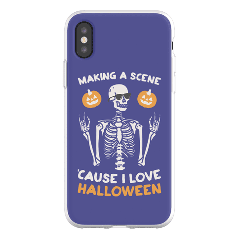 Making A Scene 'Cause I Love Halloween Phone Flexi-Case