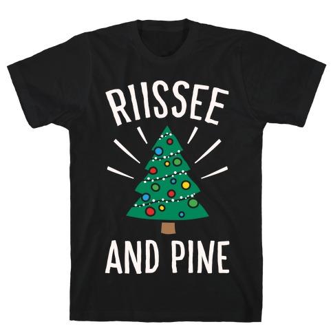 Rise And Pine Parody White Print T-Shirt