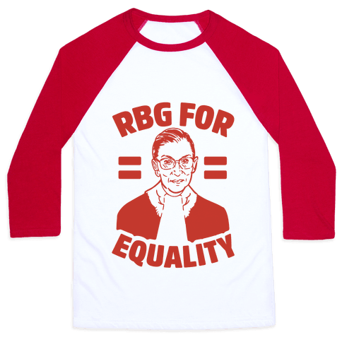 Rbg For Equality Baseball Tee