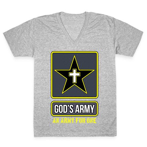 God's Army V-Neck Tee Shirt