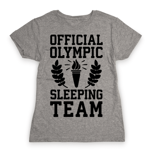 Official Olympic Sleeping Team Womens T-Shirt