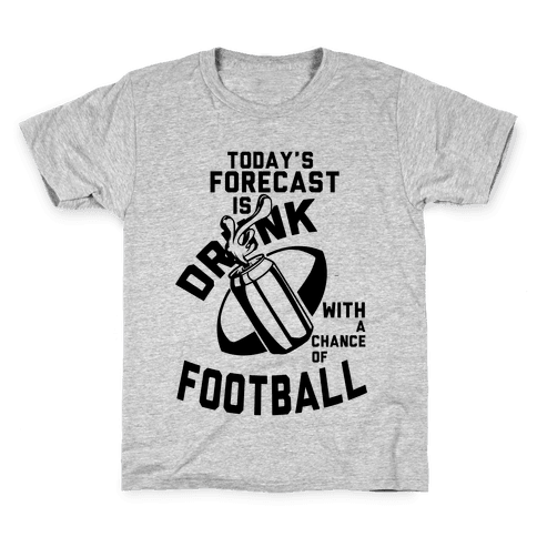 Drunk With a Chance of Football Kids T-Shirt