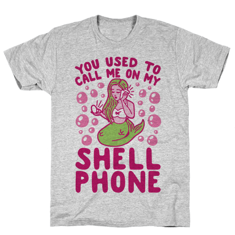 Call Me On My Shell Phone Mens T-Shirt