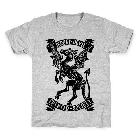 Jersey Devil Cryptid Society Kids T-Shirt