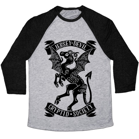 Jersey Devil Cryptid Society Baseball Tee