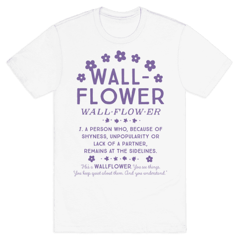 Definition of a Wallflower Mens T-Shirt