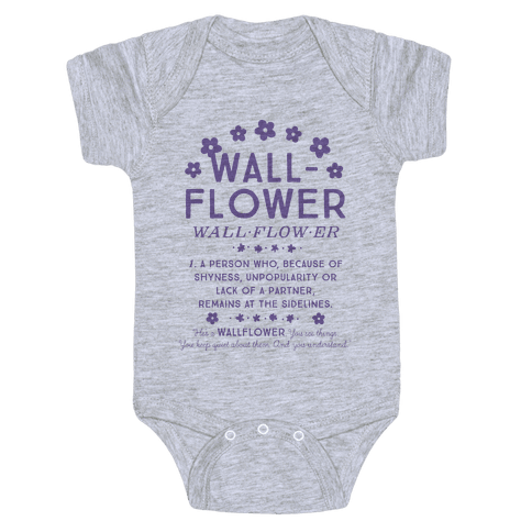 Definition of a Wallflower Baby Onesy