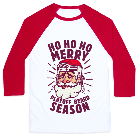 Merry Playoff Beard Season Baseball Tee