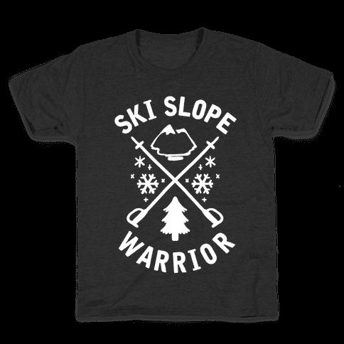 Ski Slope Warrior Kids T-Shirt