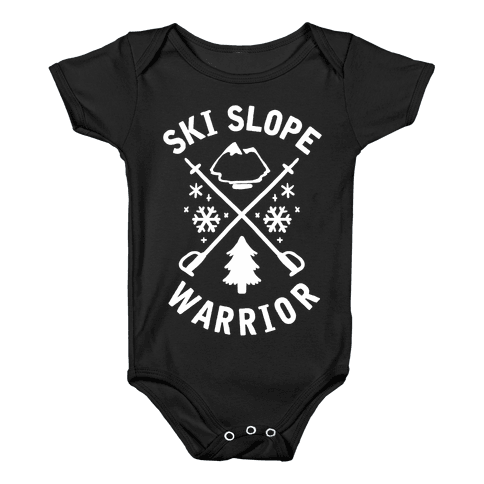 Ski Slope Warrior Baby Onesy