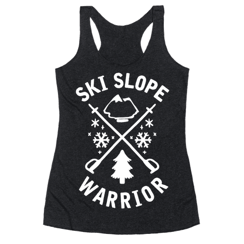 Ski Slope Warrior Racerback Tank Top