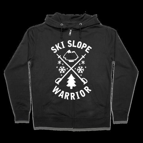 Ski Slope Warrior Zip Hoodie