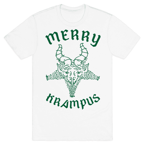 Merry Krampus Mens T-Shirt