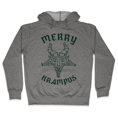 Merry Krampus Hooded Sweatshirt