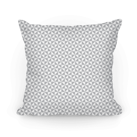 Gray Pinwheel Pattern Pillow