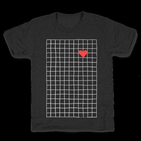 Graph My Heart Grid Pattern Kids T-Shirt