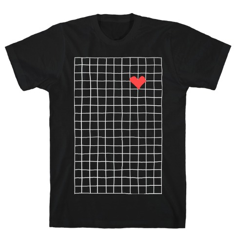Graph My Heart Grid Pattern T-Shirt