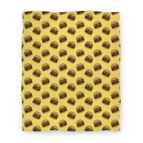 Double Cheeseburger Pattern Blanket