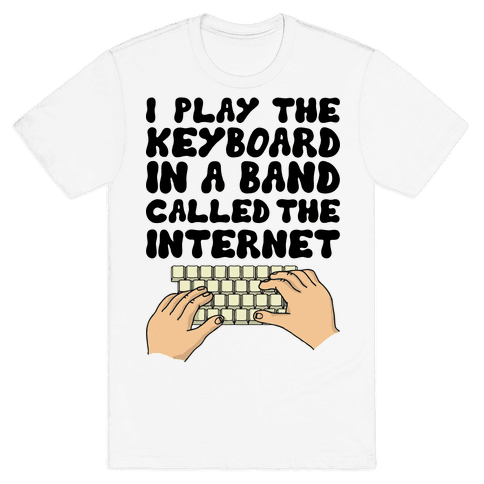 I Play The Keyboard Mens T-Shirt