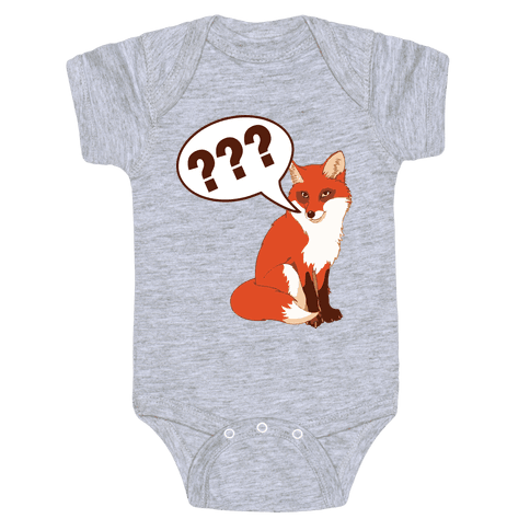 What Does The Fox Say Baby Onesy