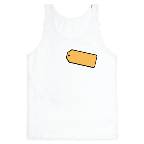 Price Is Right Name Tag Costume Tank Top