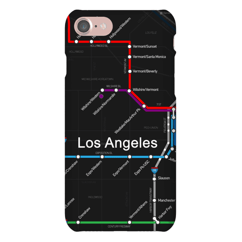 Los Angeles Transit Map Phone Case