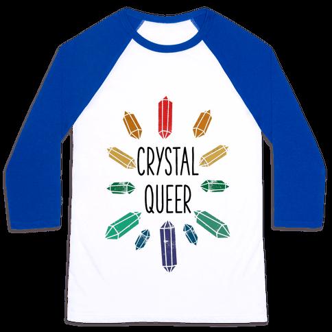 Crystal Queer Baseball Tee