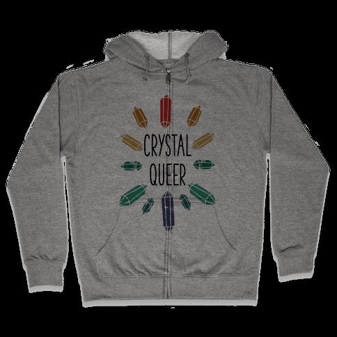 Crystal Queer Zip Hoodie