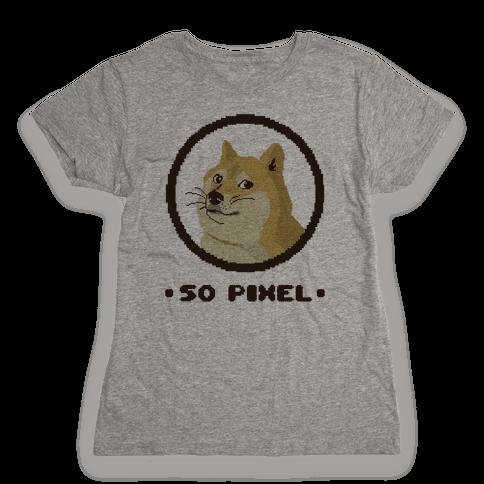 Pixel Doge Womens T-Shirt
